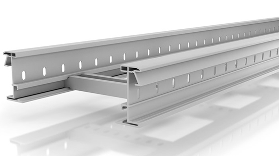 Insulating cable tray 66 - U23X colour grey